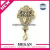 Megan high-end custom flower hair clip and brooch pin