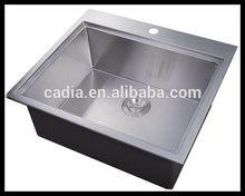 Bottom price hotsell Single bowl 635X559X254mm Top mounted hand wash basin sets