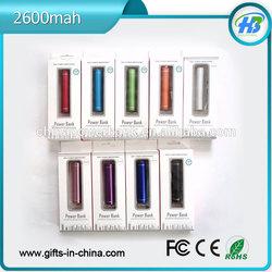 Free samples Cylinder Power Bank 2600mah