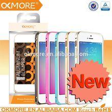 alibaba express for iphone 5c 0.7mm aluminum steel metal frame bumper skin case