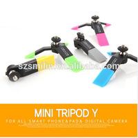 2014 Best Gift Korea New Design ASHUTB MINI TRIPOD Y Desk Stand Mount Holder Universal for All Smartphone Digital Camera PAD