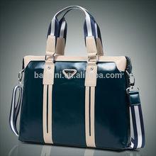 Wholesale classical soft business men bags genuine leather shoulder briefcase laptop bags