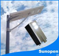 SUNPOWER solar pannel all in one solar LED street light 6W-60W