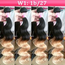 2014 New Arrival Two Tone color #1B/#27 Brazilian Hair Ombre Virgin Hair