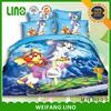 3d printed 100% polyester cartoon print bed sheet/cat print bed sheet/air conditioned bed sheet