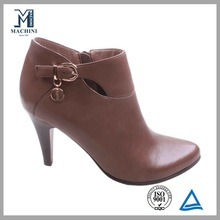 Sheepskin ankle shoes leather products high heel boot
