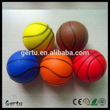 cheap mixed color 6.3cm foam basketball stress ball factory