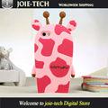 Projeto bonito dos desenhos animados 3D Slogan caixa do telefone móvel para o iPhone 5 / 6 / 6 mais