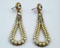 las mujeres de moda de diamantes de imitación de la perla grande pendientes de gota de agua de alta calidad tipo