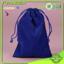 Hot sale high-end double Velvet bag with drawstring