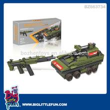 Kids assembling toys military toys tank and ak47 toy gun