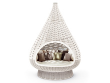 outdoor patio furniture rattan bird nest hanging sun bed