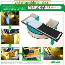 cash table with Pan-Oston Display Racks