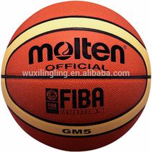 Size5 Leather Molten GM5 basketball, indoor/outdoor baskebtall, streetball, street hoop