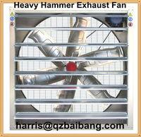 Window mounted swung drop hammer exhaust ventilation fan
