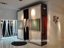 Luxury simple bedroom wardrobe sliding mirror doors