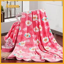 hot sale super soft flannel 100 polyester animal print mink blankets