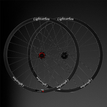 LIGHTCARBON Full Carbon 3K/ud 27.5ER MTB Wheelset 650b Clincher Wheelset 35mm full carbon clincher