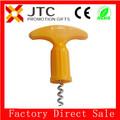 Jtc sin moq, libre de la muestra, pago 5% off logotipo personalizado a granel barato de corcho de plástico de madera tornillo de& aduit bsci