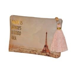 Custom Eiffel Tower printing cosmetic pvc bags travel used(PK-11143)