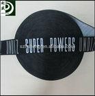 wide black elastic band with custom white logo
