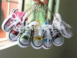 best selling fashion mini bulk running canvas shoe keychain