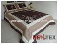applique bordado comforter retalhos acolchoados com preto creamstrip colchas