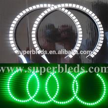 Super Bright car accessory 127.5mm+160mm semi-circle led angel eye For BMW E53 E60,with RGB remote controller