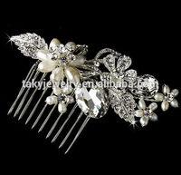pearl vintage hair comb