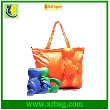 Newest eco Folding reusable bear animal shopping bags