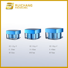 15g/30g/50g acrylic cream jar, square shape acrylic cream jar