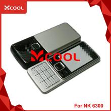 V1305 Full mobile phone faceplates for noki 6300 housing cover case+ keypad spare parts