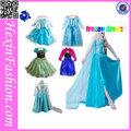 Grossista novo vestido congelados- princesa traje elsa