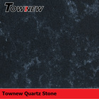 Marble like series black quartz stone slab