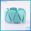 China factory price china manufacturing semi precious round bead blue gemstone bead cabochon turquoise loose wholesale bead