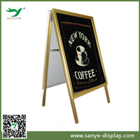 Double side portable sidewalk a-frame stand