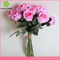 ราคาถูกดอกไม้ประดิษฐ์ดอกกุหลาบห่อสำหรับการตกแต่งงานแต่งงาน