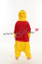 2014 wholesale Christmas cosplay custume kid onesie children/Winnie cartoon pajamas
