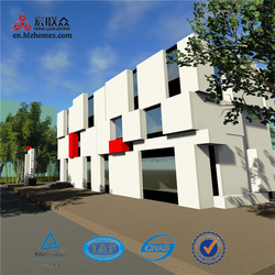 Hot Sale Three Storeys Light Steel Structure Prefab Apartment