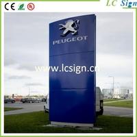 Outdoor auto standing pylon sign