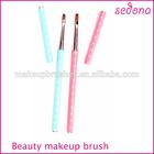 Beauty pink and blue cosmetic brush nylon nail art brush, nail art pen and brush set with cover,sedona nail art dotting tools