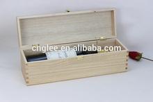 hot sale single bottle wooden wine carrier