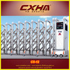 electric retractable gate with stainless steel material