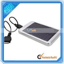 5000MAH Shenzhen Factory Portable External Smart Solar Power Bank Silver