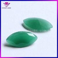 Marquise Shaped Synthetic glass Gemstone Malaysian Jade