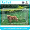 large outdoor metal chain link rolling large beautiful dog cage lock
