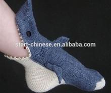 2015 New Coming Knitted Shark Socks/Fun Character Animal Socks/Woman Socks