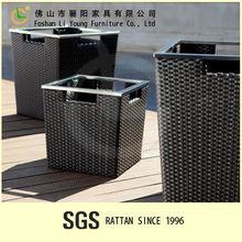 El dikdörtgen plastik saksı toptan lg-pl2704