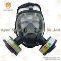 Esférico full face máscara de gás com um único/duplo conector com anti envelhecimento material de silício- ayonsafety