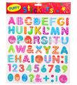 belle lettre forme 2014 puffy sticker de décoration pour mur de verre